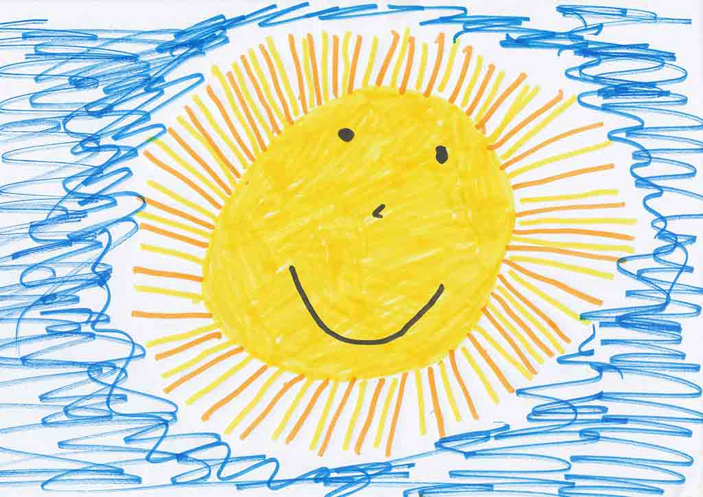 ASQ (Ages and Stages Developmental Questionnaire) - Sun drawing