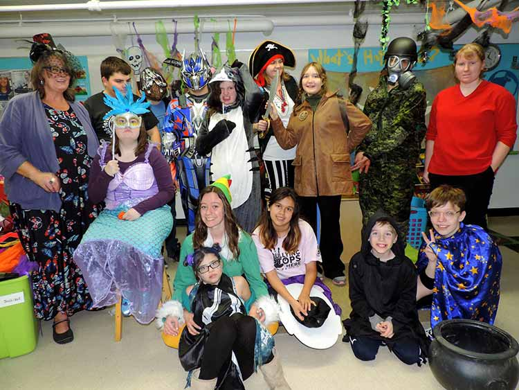 Halloween Loft Program group photo