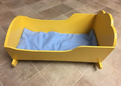 CCR002531 Yellow Wooden Cradle