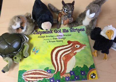 CCR002689 How the chimpmunk got his stripes story kit